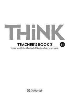 Think 2 B1 Teacher Book