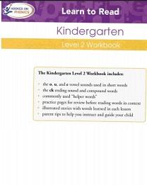 Hooked on Phonics 2010 Kindergarden Level 2 Workbook