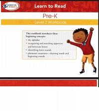 Hooked on Phonics 2010 Pre-K Level 2 Workbook