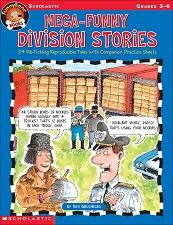 SCHOLASTIC Funny Bone Books - Mega Funny Division Stories Grades 3-6