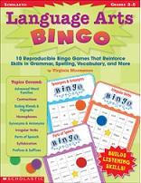 SCHOLASTIC Language Arts Bingo Grade 3-5