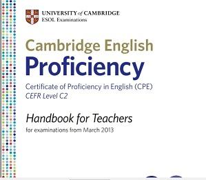 CPE Handbook For Teachers 2013