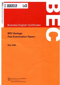BEC Vantage MAY 2005