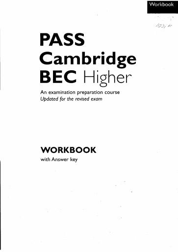 Pass Cambridge BEC Vantage Higher Workbook