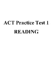 ACT Practice Test 1 Reading
