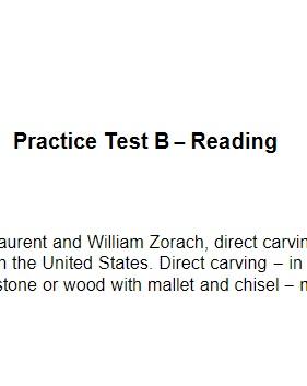 ACT Practice Test B Reading